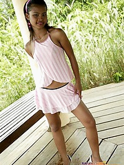 Beautiful petite cosset Tussinee shows off her surprising body and teases