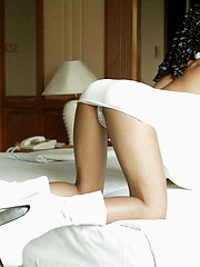 Hot Asian girl Tailynn plays with herself in bed