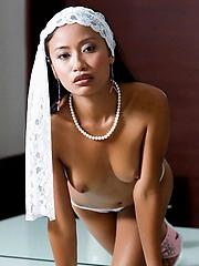 Petite pornstar in an erotic softcore scene