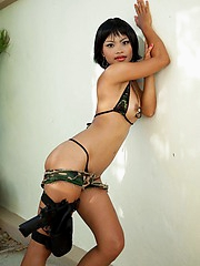 Camoflauge Thai babe is gonna get you! With her sexy body