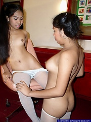 Two yummy broads playing lascivious festivity after school