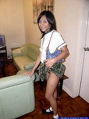 Female student stripping to show her privates to earn some cash