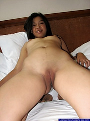 18 year old Marychris fingers will not hear of hairless nubile pussy on will not hear of bed