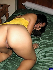 19 excellence age-old Trina strips and spreads her legs to show her neat hairless break out of