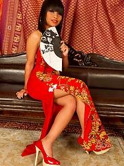Thai babe Tanya pulling panties