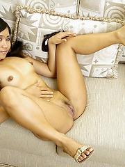 Stephie Thai dropping plaid skirt