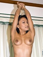 Natural tits on Thai babe Rowena