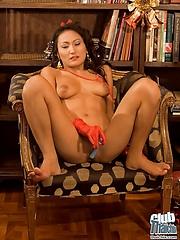 Thai Christmas girl Rowena with dildo