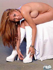 Honey in white boots only