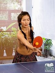 Thai Emiko and Mya nude pingpong