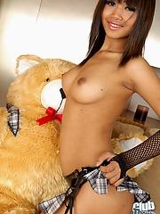 Thai cutie Bua showing pussy