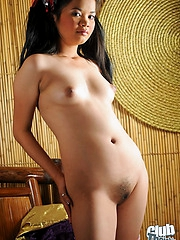 Cute babe Aina showing pussy