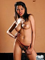 Busty Sai Tai getting nude