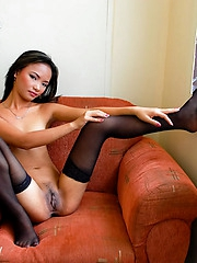 Jessica totally nude in stockings