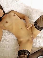 Alisha dissemination in black stockings