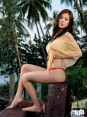 Thai beauty Miko outdoors