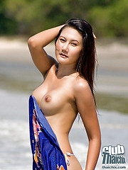 Michella Dao posing on the beach