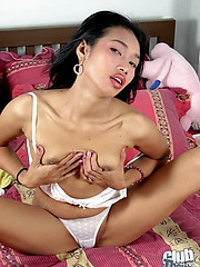 Petite Thai Apple masturbating