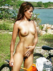 Thai Janice on nude bike ride