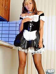 Keani Lei dropping maid outfit