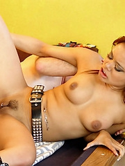 Annie Cruz riding hard rod