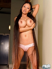 Lena Li showing her big tits