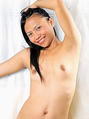 Cute shaved Dina totally nude