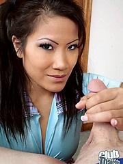 Christina Aguchi sucking hard dick