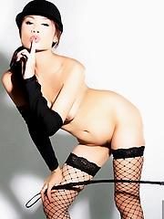 Thai girl Ann in hot black lingerie