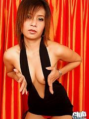 Thai mollycoddle Tan showing boobs
