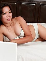 Mahal in cute lingerie posing