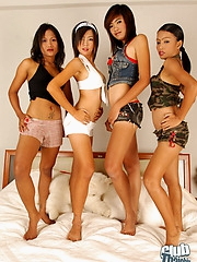 Four stunning Thai models nude