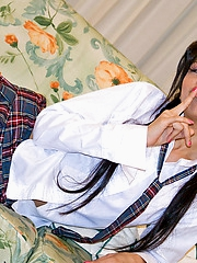 Thai Mekumi in schoolgirl uniform