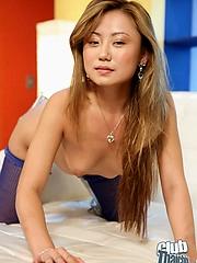 Petite Tai Michelle in stockings