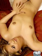 Mimi posing nude in bed