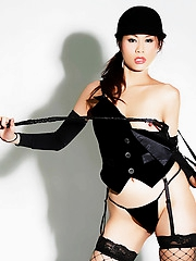 Thai girl Ann and her riding crop
