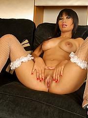Sexy Nicha spreading pussy