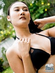Michella Dao nude in the pool