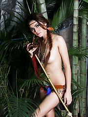 Riyo in the jungle topless