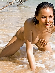 Michella Dao nude on the beach