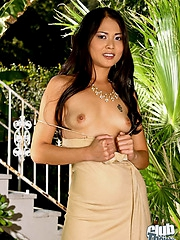 Outdoor striptease with Naomi Zen