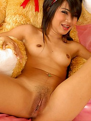 Sansanee with dildo up her pussy