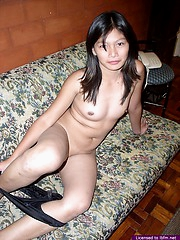 Cute Aileen offers us many close-ups of her very tight nubile pussy