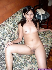 Cute Aileen offers us many close-ups of her very covetous nubile pussy