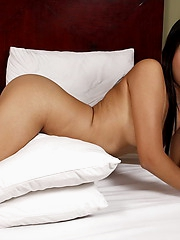 Mishael is simply gorgeous; we love her perfect natural breasts and her neat shaved slit