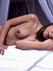 Misako lovely and hot Japanese model shows her hot round ass and pussy