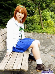 Asian tramp Akane looks forward to teasing the college guys on lunch break