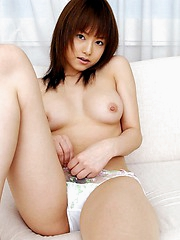 Akiho wears her leather and fishnets to be a sexy hot babe when she goes out