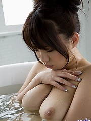 Sexy bikini model Mai is naked and showing off her sweet hairy fuckable pussy