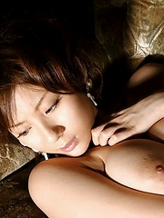 Japanese slut shows off clothes then gets naked for big tits and pussy shots
